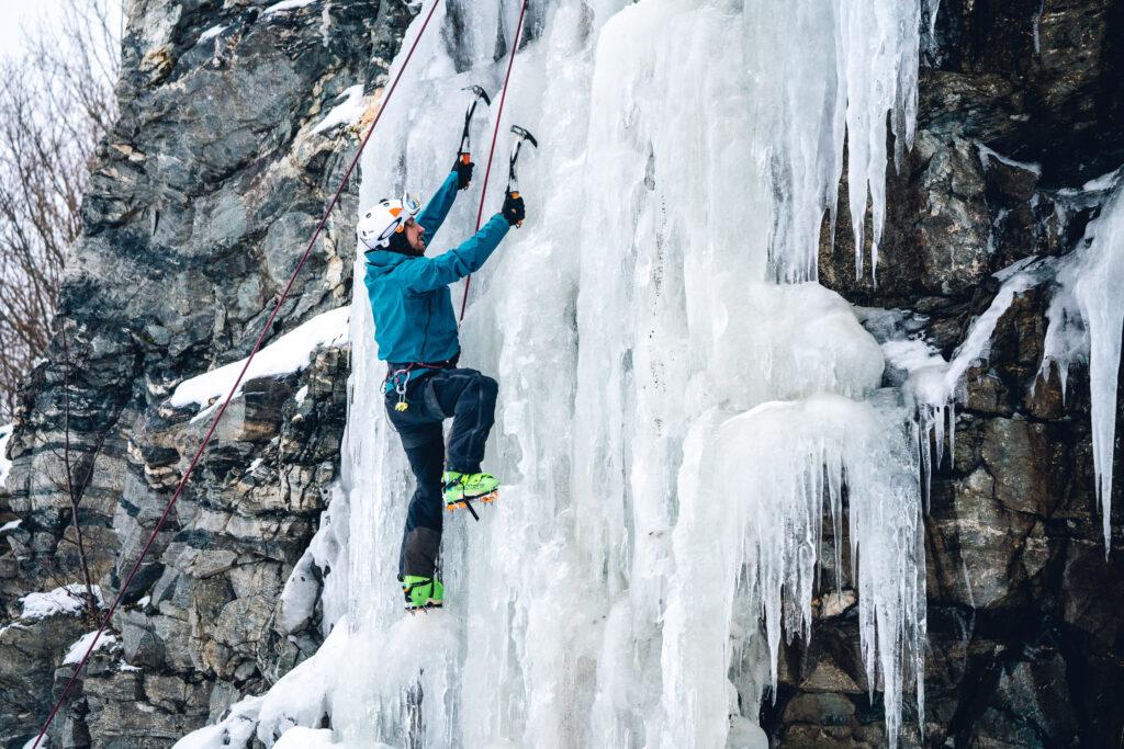 klättring på is